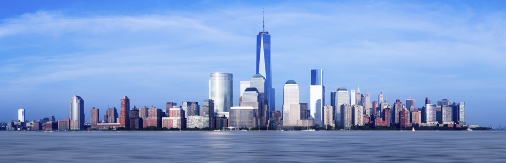 Panorama of lower Manhattan of New York City